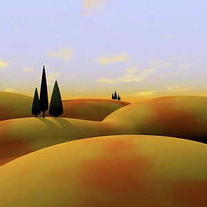 Landscape Digital Art - Toscana 3 by Cynthia Decker