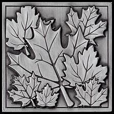 Maple leaves - etched in pewter