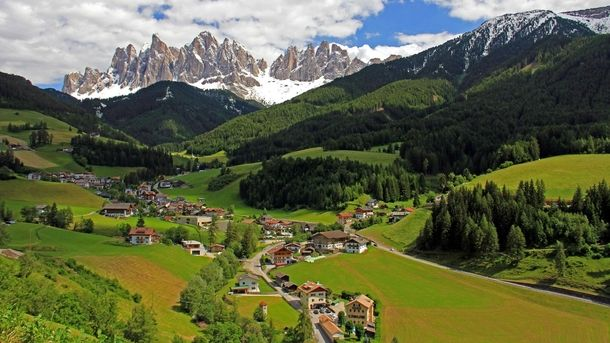 St Magdalena Village in South Tirol Italy - Photorator