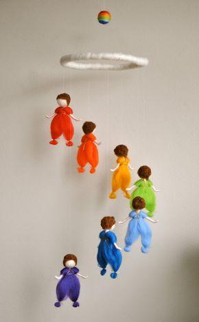 Waldorf móvil niños inspirado de fieltro aguja los por MagicWool