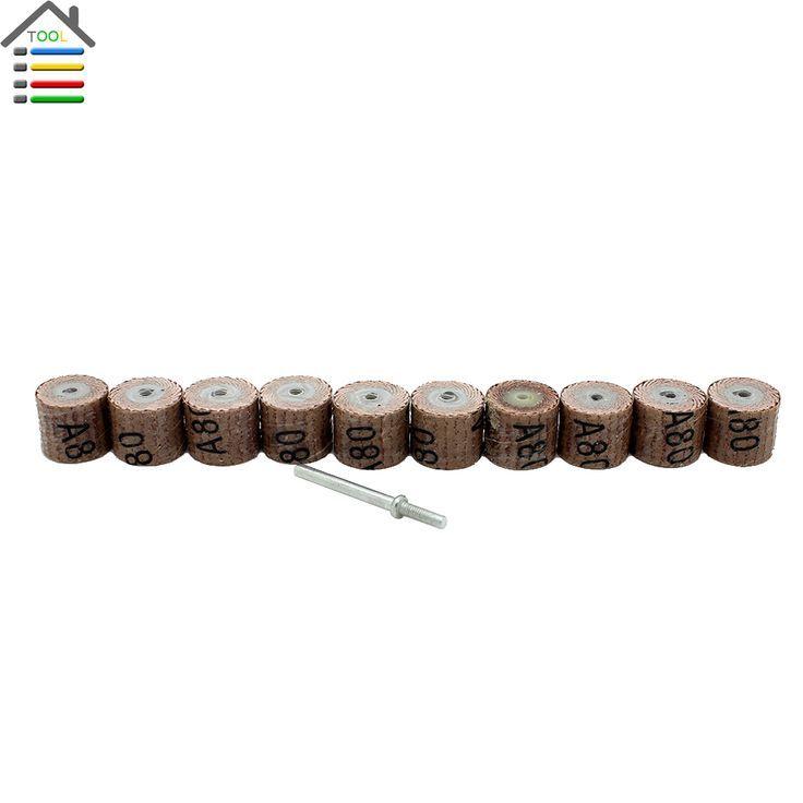 pc 80 Grit Sandpaper Grinding Wheel Mini Drill Dremel Accessories Rotary Tool