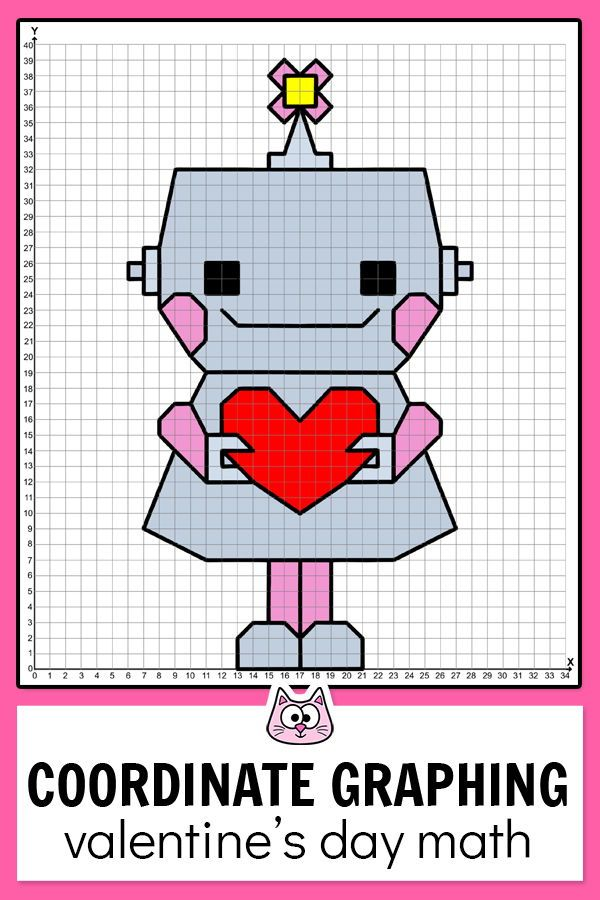 Valentine S Day Math Center Coordinate Graphing Plotting Ordered