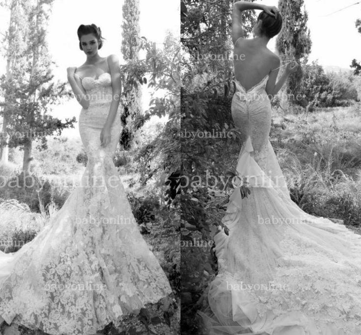 Superb New Arrival Sexy Mermaid Empire Lace Wedding Dresses Bridal Dress Hot
