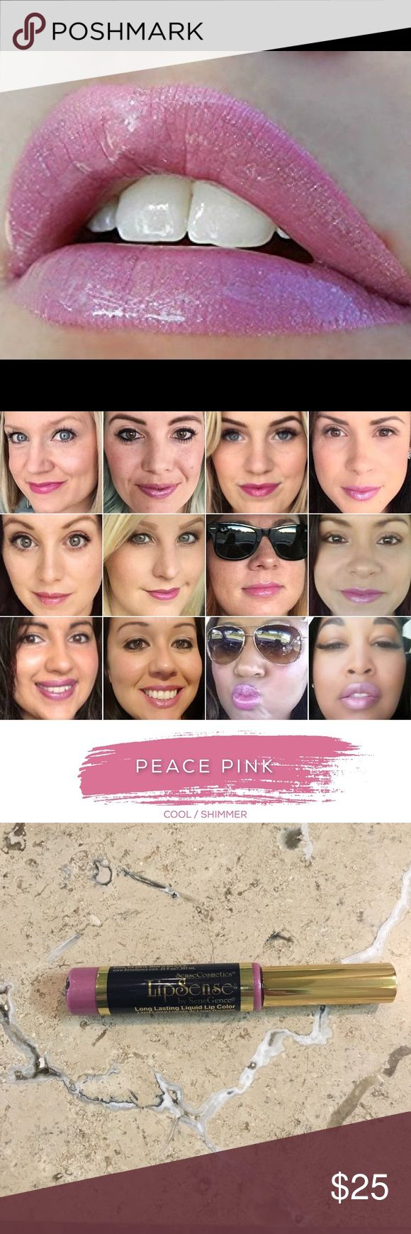 Lipsense PEACE PINK 18 Hour Lipcolor IN STOCK Brand new, sealed!  The hottest Pink for Spring, sold out, so don't miss out! The premier product of Senegence, LipSense lasts all day – up to 18 hours. It is water-proof, kiss-proof, smudge-proof, and completely budge-proof. LipSense comes in a variety of captivating colors and can be layered to produce your own custom look.  Must be worn with a Lipsense gloss.Brand new, sealed!  COMMENT BELOW WITH YOUR EMAIL TO GET DISCOUNT INFORMATION, I…