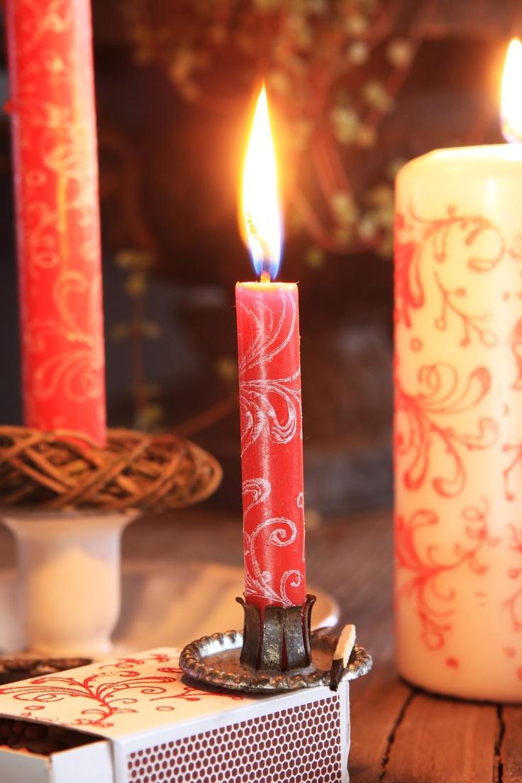 Sjarmerende jul: Stempling på lys