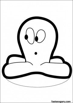 Printable coloring pages Pocoyo Octopus - Printable Coloring Pages For Kids