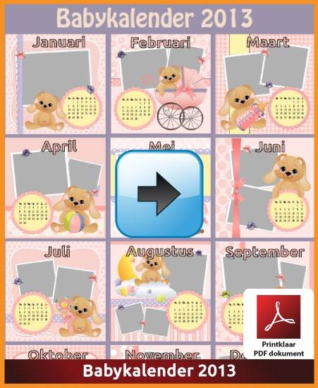 De babykalender 2013.