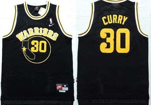 Golden State Warriors #30 Stephen Curry All Black Swingman Jersey