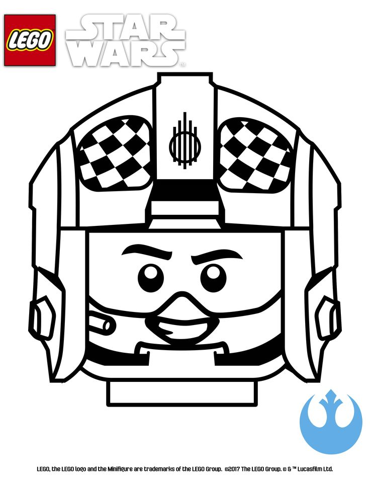 Lego star wars coloring page blue suadron