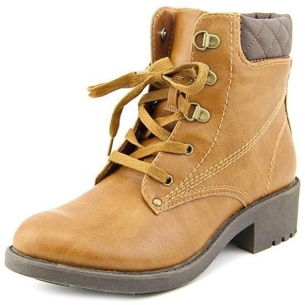 White Mountain Women's 'Racket' Faux Leather Boots (€67) ❤ liked on Polyvore featuring shoes, boots, tan, tan ankle boots, ankle boots, white mountain shoes, synthetic hiking boots y white mountain boots