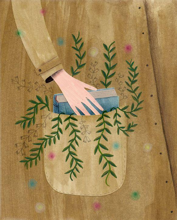 Un libro es como unjardínque se lleva en el bolsillo | Celeste Berlier | A book is like a garden carried in the pocket #biblioteques_UVEG