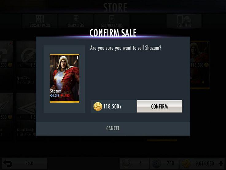 Shazam for sale | Injustice - iOS Game | Pinterest