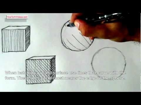 This is a drawing lesson aimed at using line to create value on both flat and curved surfaces. The techniques covered are hatching and cross-hatching. These processes are typically associated with 'pen and ink' and intaglio printmaking.