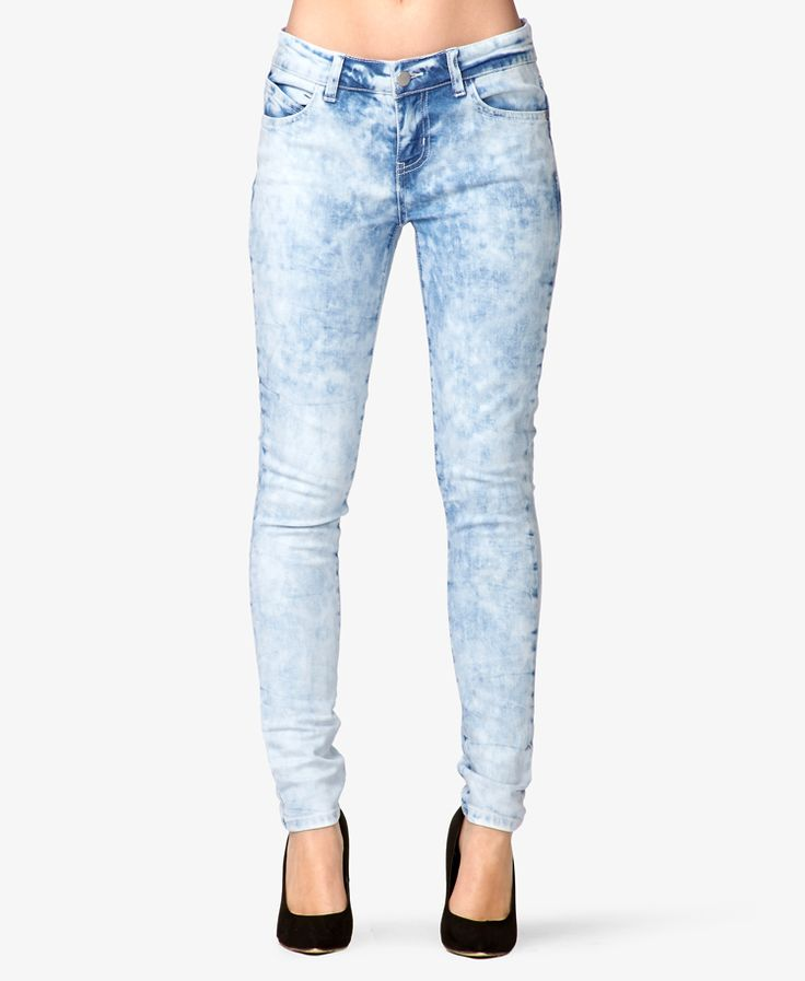 Forever 21 Cloud Wash Skinny Jeans