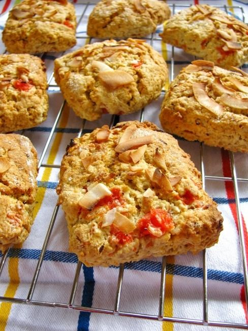 Grapefruit & Coconut Scones with Oats... | coconut recipes | Pinterest ...
