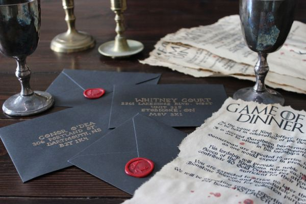 Game of Dinner Party invites #gameofthrones #partydecor