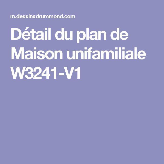 Détail du plan de Maison unifamiliale W3241-V1