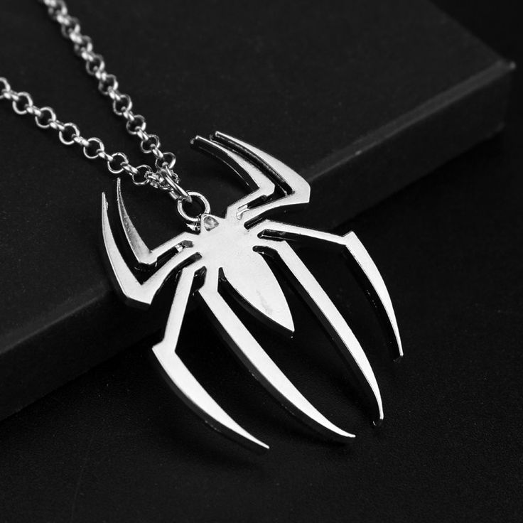 Spiderman Silver Necklace //Price: $6.49 & FREE Shipping //     #hashtag1