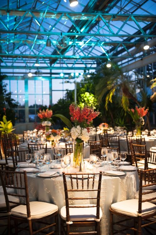 The Ambient Lighting Teal Brings Such A Pretty Look To The Structure! Botanical  GardensEvent ...