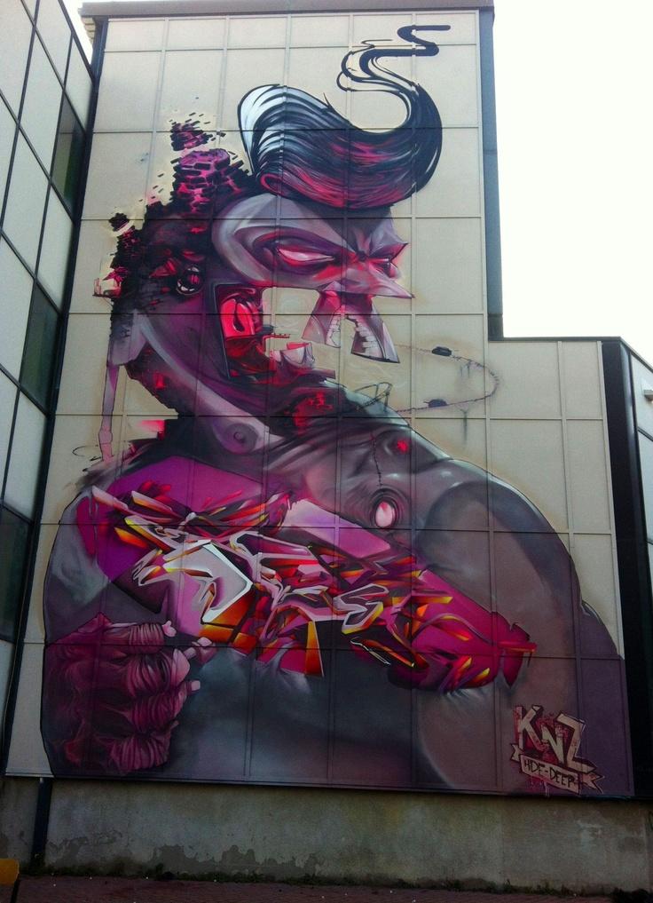 Knz clan rules 100 piez pinterest arte callejero for Graffitis y murales callejeros