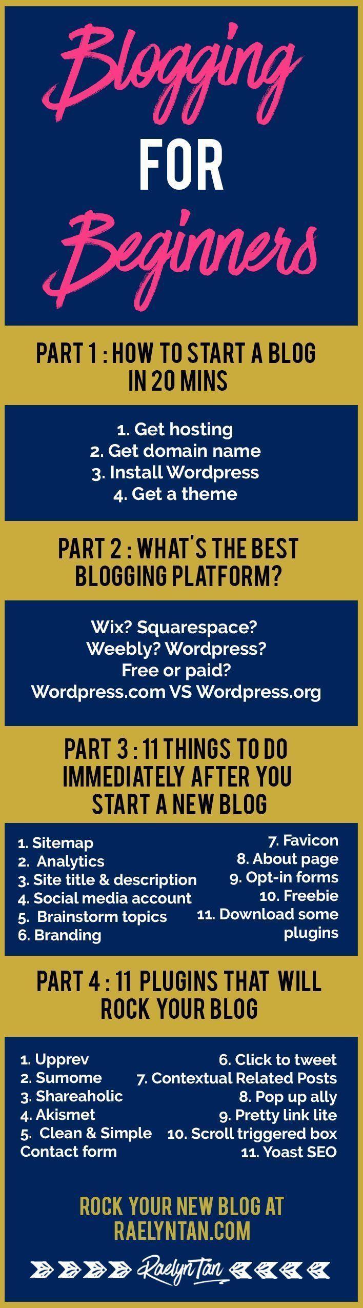 25 + › Blogging für Anfänger: So starten Sie ein Blog in 20 Minuten – # Anfänger #Blog #Blogging #Keine #Für Anfänger # für # Minuten – Monti
