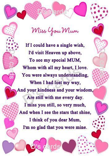 In loving memory/card/keepsake/Grave/mum/nan/auntie for any relative