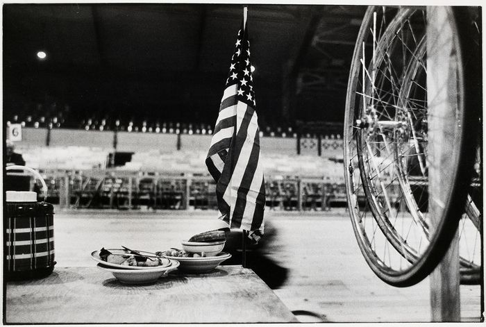 Robert Frank, 6 Day Bicycle Race, Madison Square Garden, 1959