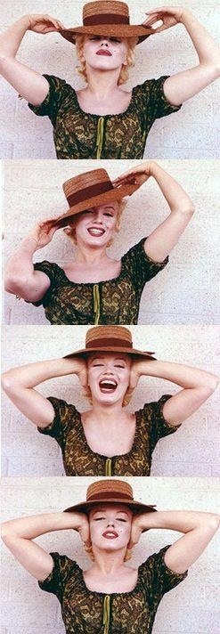 "Marilyn on the set of ""Bus Stop"". Photos by Milton Greene, 1956."