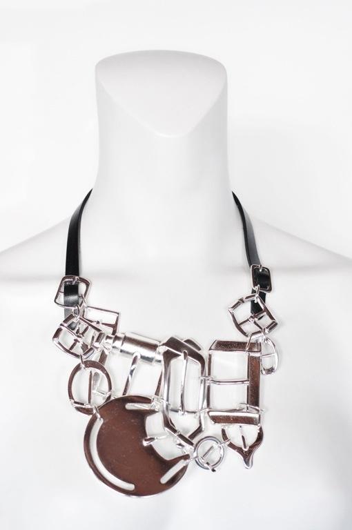 margiela buckle necklace