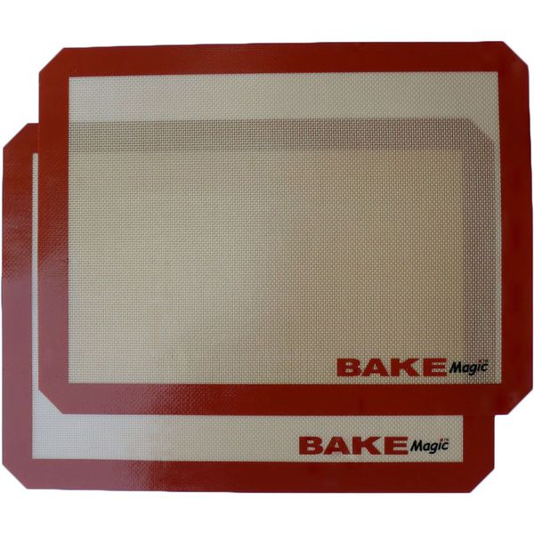 Bring the well kept secret of the baking industry into your kitchen. Create delicious breads, crispy pizza crusts, and perfectly baked cookies. BakeMagic Silicone Non-Stick Baking Mat is a specially f