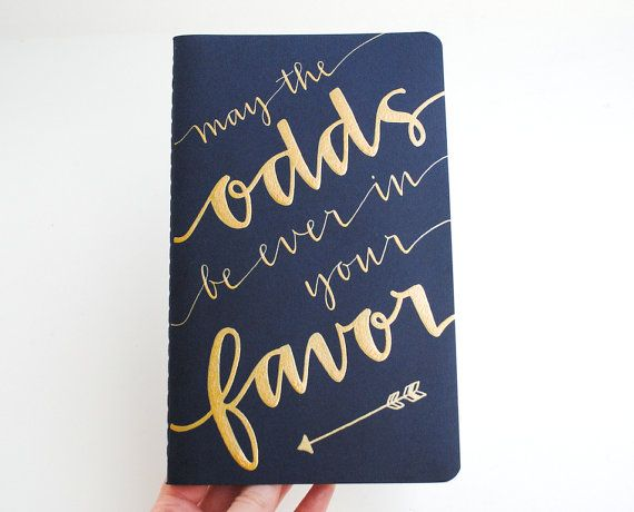 Hunger Games Inspired Notebook Modern Calligraphy Gold