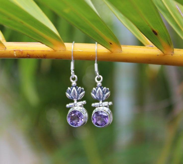 Amethyst Dancing Flower earrings. www.opusjewels.com.au