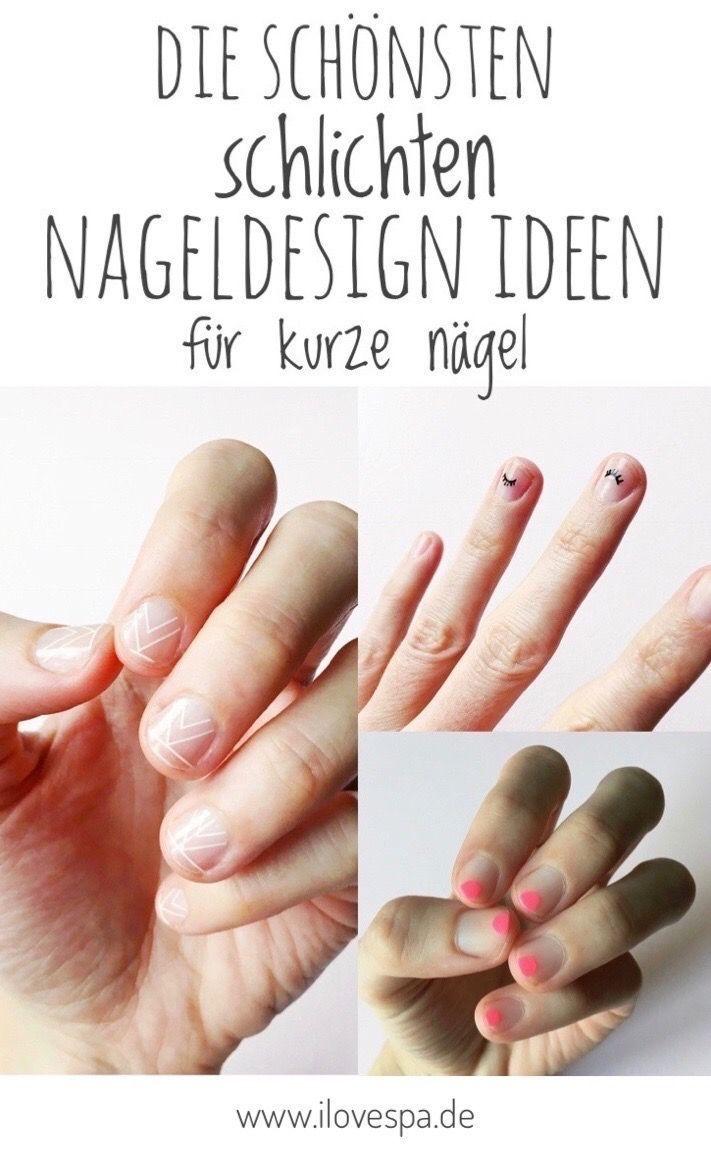 Einfache Nageldesign-Ideen für kurze Nägel – Hier finden Sie alle Designs mit … #design #designs #ideas #nails #short