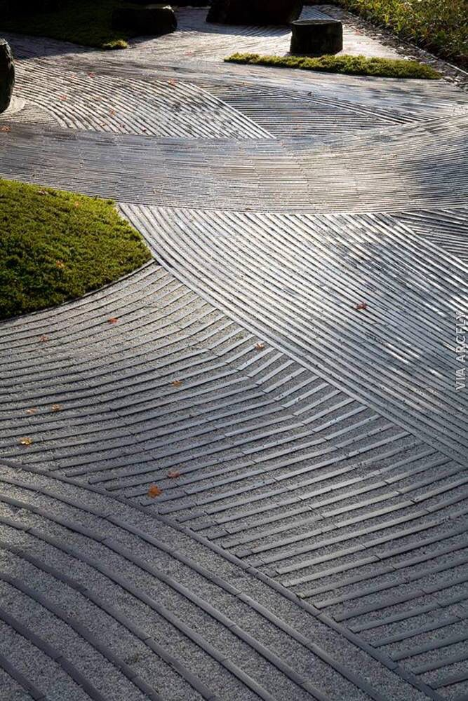 Exterior pavement pattern design - textile design and surface pattern inspiration