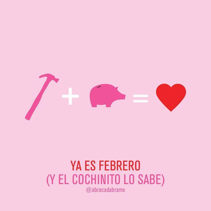 Ya es febrero (y el cochinito lo sabe) // #amor #14defebrero #cochinito #alcancia