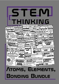 Atoms, Elements, Covalent Bonding, Ions, Ionic Bonding, Relative Atomic Mass, Periodic Table Doodle Notes for Middle and High School Chemistry Doodle NotesThis bundle includes:Atomic Number, Mass Number Doodle NotesPeriodic Table Doodle NotesIsotopes and Relative Atomic Mass Doodle NotesIonic Bonding Doodle NotesIons Doodle NotesCovalent Bonding Doodle NotesThese notes will help your students to review the concepts of:- atomic number- mass number- ions- ionic bonding- properties of ionic…