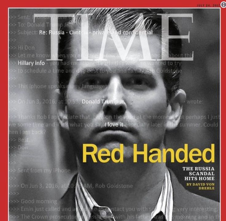 Time Magazine Puts 'Red Handed' Donald Trump Jr. On Cover | HuffPost