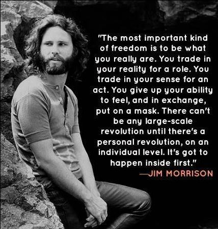 """James Douglas """"Jim"""" Morrison (December 8, 1943 – July 3, 1971) was an American singer-songwriter and poet, best remembered as the lead singer of Los Angeles rock band The Doors.[1] From a young age, Morrison became infatuated with the works of Friedrich Nietzsche, Arthur Rimbaud and Jack Kerouac, often incorporating their work into his lyrics. http://en.wikipedia.org/wiki/Jim_Morrison"""