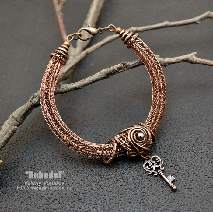 Wire Wrapped Bracelet Viking Knit от vorobev на Etsy