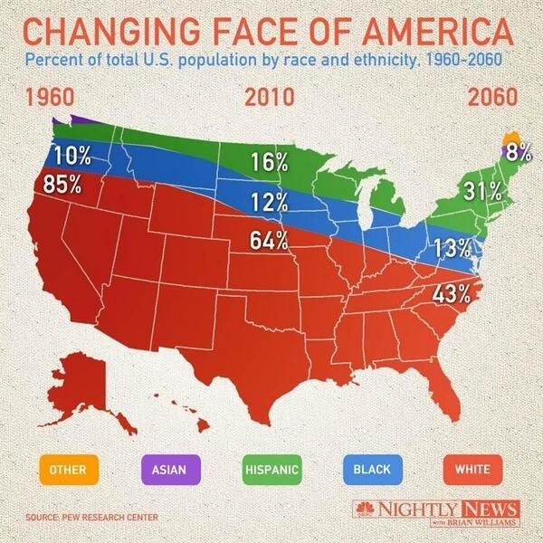 #Lieggrafiek week 14: Changing Face of America