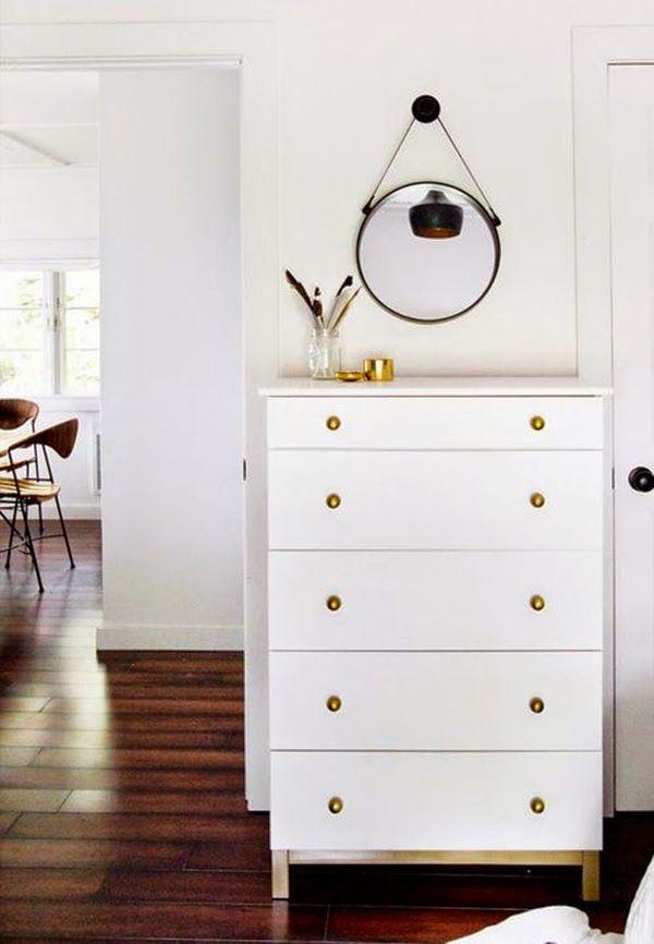 Ikea tarva gold white paint diy home ideas inspiration - Comoda malm ikea ...