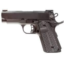 "Rock Island Armory 1911 Tactical II Compact Semi Auto Handgun .45 ACP 3.5"" Barrel 7 Rounds Checkered Black G-10 Grips Fiber Optic Front Sight Adjustable Rear Sight Steel Parkerized"