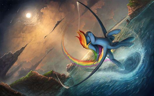 Радуга Дэш / Rainbow Dash из мультсериала Мой маленький пони: Дружба – это чудо / My Little Pony: Friendship is Magic / MLP:FiM, by Rain-Gear
