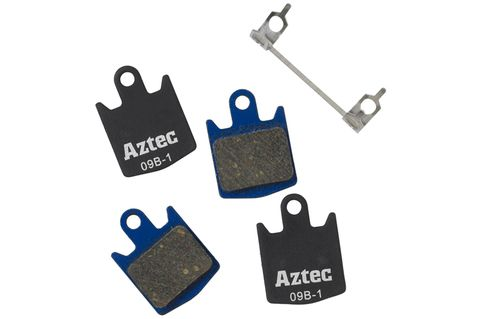 #Aztec Organic Disc Brake Pads for Hope Organic / #Aztec Organic Disc Brake Pads for Hope Organic / DH4 Callipers (2 pairs) are an alternative disc brake pad made from Organic compound. Designed and developed for UK riding conditions and race tested giving you the latest braking compound technology, manufactured and tested to the highest standards. (Barcode EAN=5027726139383)