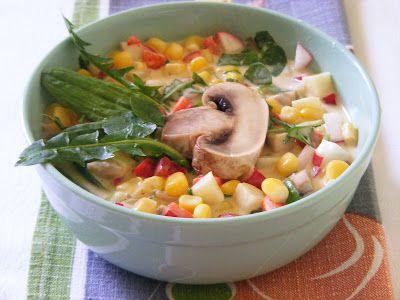 Makacska konyhája: Kukoricasaláta tavaszi zöldekkel