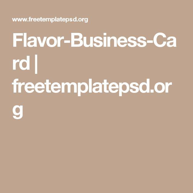 Flavor-Business-Card | freetemplatepsd.org