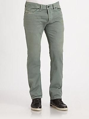 """This slim-straight silhouette fits comfortably through the hip and thigh, then tapers slightly for a narrower leg opening. Five-pocket style Inseam, about 33"""" Cotton Machine wash Imported -... More Details"""