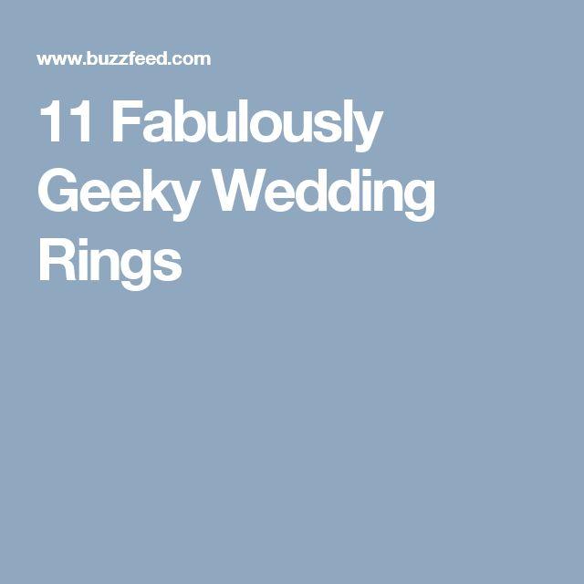 11 Fabulously Geeky Wedding Rings