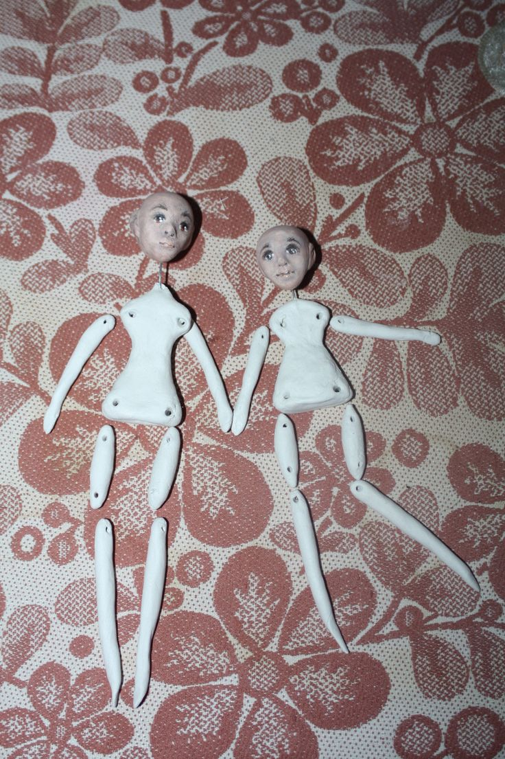 Sisters paperclay dolls tutorial