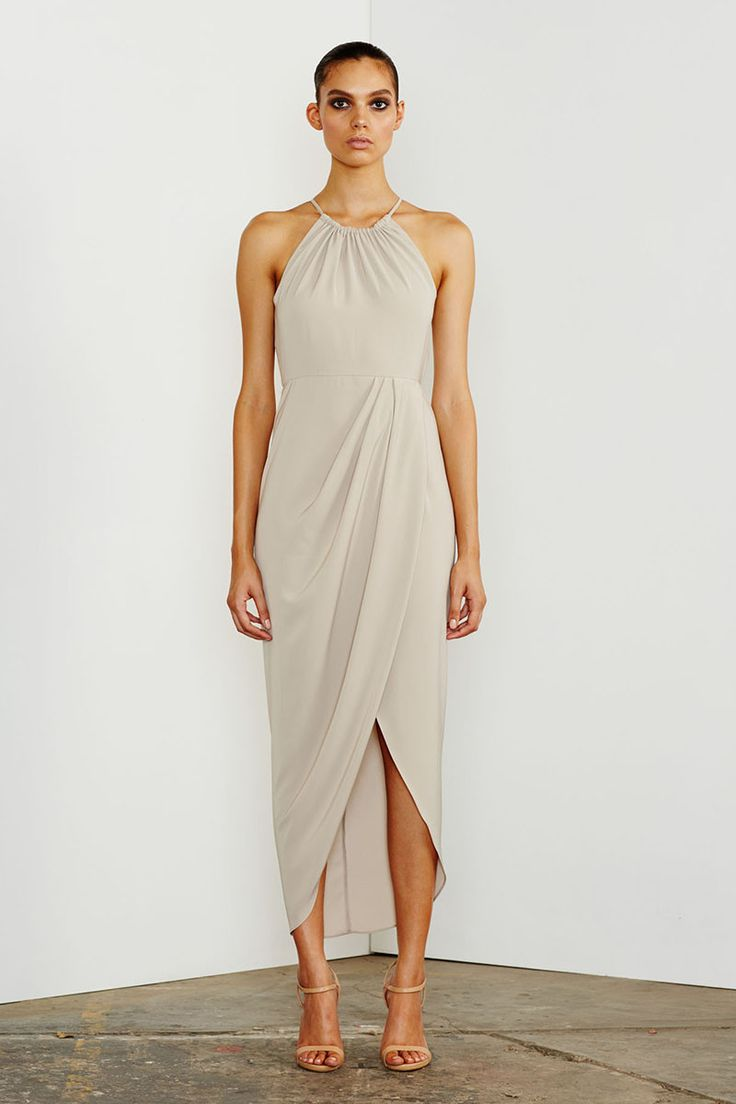 Shona Joy - Core Ruched High Neck Maxi